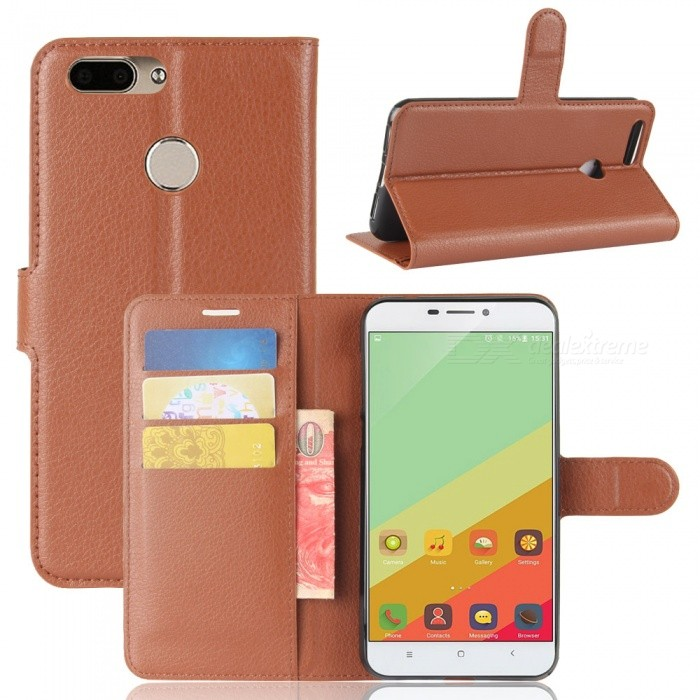 PU Leather Full Cover Wallet Phone Case for Oukitel U20 Plus