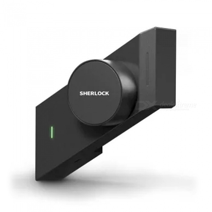 M1 Sherlock Smart Lock, Mijia APP Remote Control Lock For Home (Right Side To Open The Door) Black