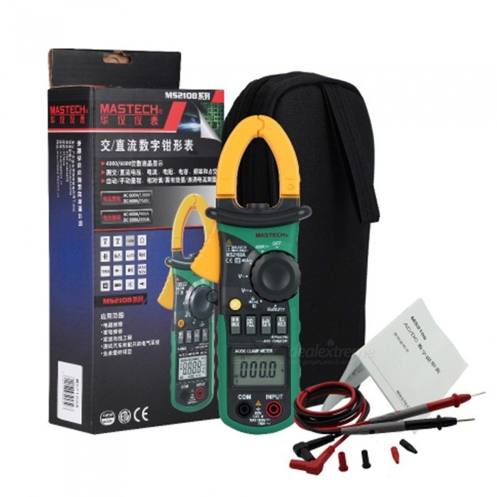 Mastech-MS2108A-Digital-Clamp-Meter-Auto-Range-DC-AC-Current-Voltage-Frequency-Tester-Multimeter-Black