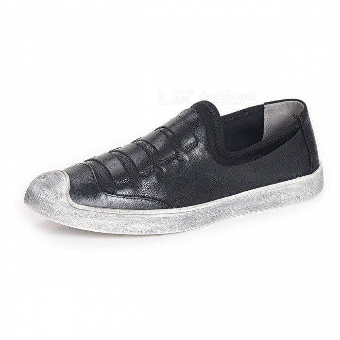 Handmade-Genuine-Leather-Mens-Shoes-Soft-Comfortable-Slip-On-Flat-Shoes-Loafers-For-Driving-Or-Daily-Wear-Black38