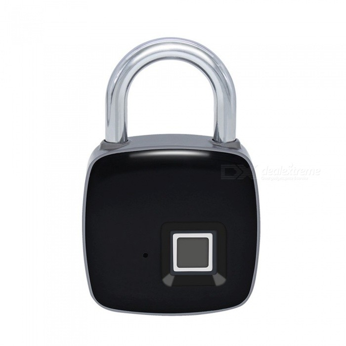 Portable-Smart-Fingerprint-Padlock-Safe-USB-Charging-Rechargeable-Waterproof-Door-Lock-Black