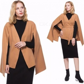 Autumn-Winter-Lace-Up-Cotton-Coat-Long-Sleeve-Elegant-Belted-Modern-Lady-Cloak-V-Neck-Coats-For-Women-S