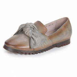SpringAutumn-Womens-Shoes-Retro-Genuine-Leather-Appliques-Flat-Soft-Literary-Round-Toe-Bowknot-Shoes-For-Women-Dark-Grey34