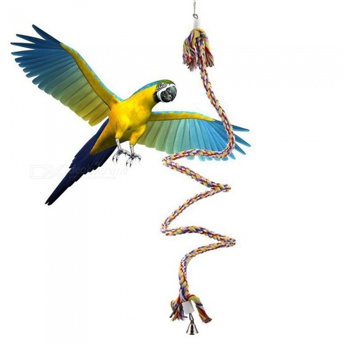 Large Medium Small Parrot Climbing Rope Bird Toy Pet Vertical Rope Decorative Cage Toy Cage Rope Geek Rigidity Strong Assorted