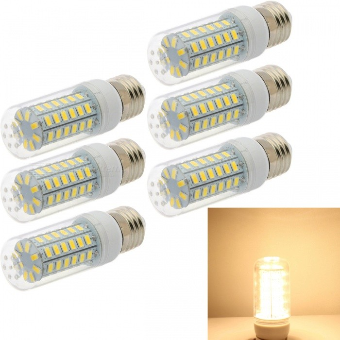HONSCO-6PCS-E27-6W-5730-56SMD-Warm-White-Light-LED-Chandelier-Candle-LED-Light-For-Home-Decoration-Ampoule