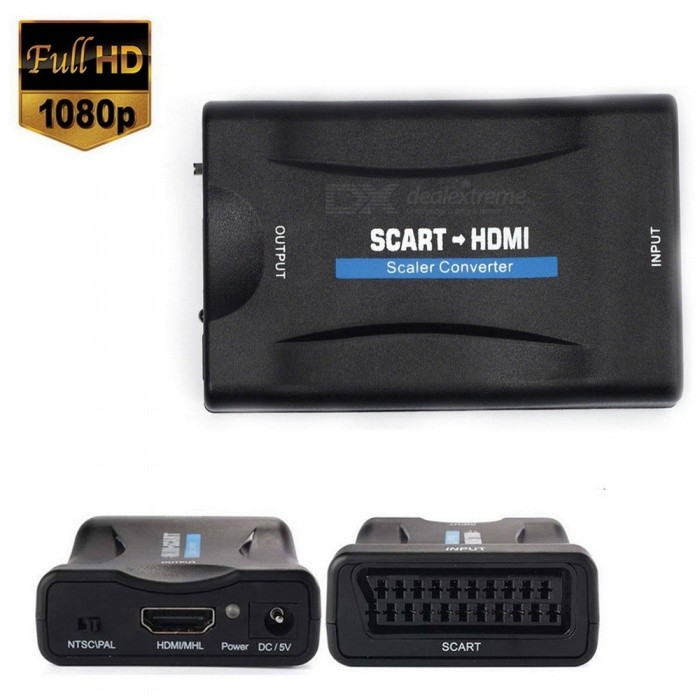 Scart to HDMI MHL Converter Audio Video Adapter for 1080P HDTV STB Sky Box