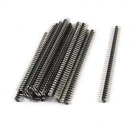 ZHAOYAO 2.54mm paso 80 pines de doble fila encabezado macho pin (20 PCS)