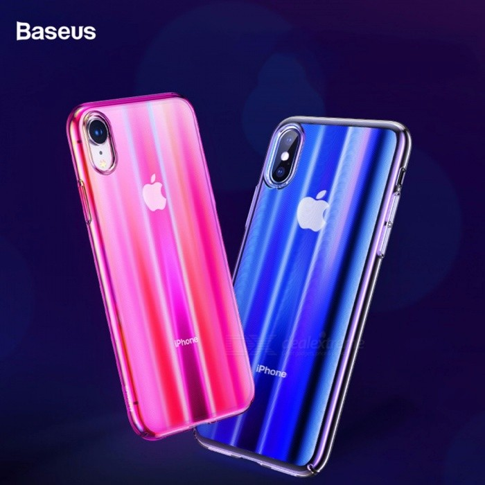 best sneakers f04bb b43c0 BASEUS Gradient Color Anti-Fingerprint Non-Slip Thin Protective Phone Case  Cover For IPHONE 9, XS, XS Plus Pink/iPhone XS 5.8