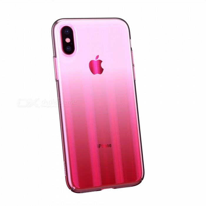 best sneakers 00721 678e9 BASEUS Gradient Color Anti-Fingerprint Non-Slip Thin Protective Phone Case  Cover For IPHONE 9, XS, XS Plus Pink/iPhone XS 5.8