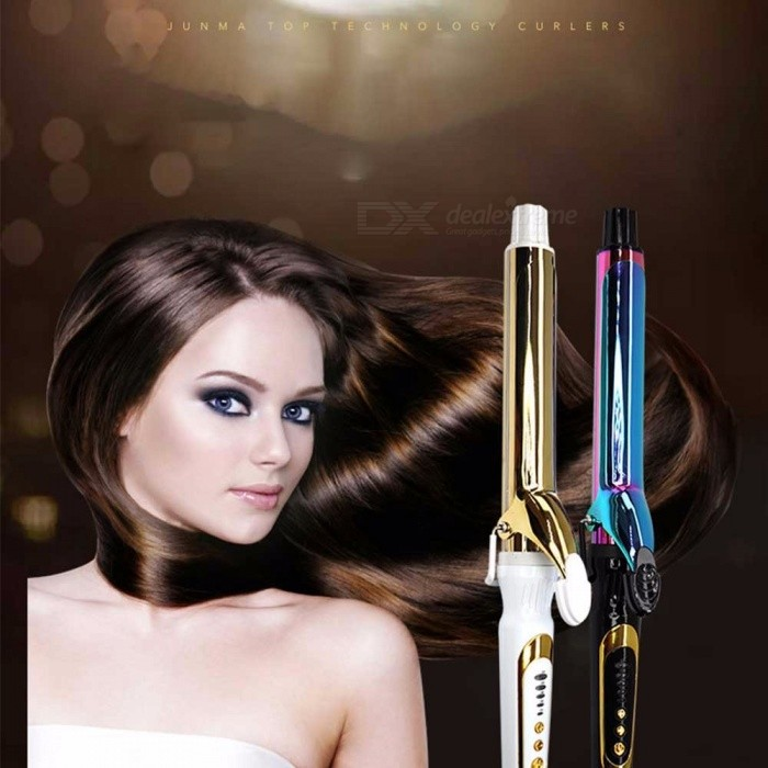 Professional-Hair-Curling-Iron-Styling-Tool-Pear-Flower-Cone-Electric-Hair-Curler-Roller-Curling-Wand-25mm-AssortedCN