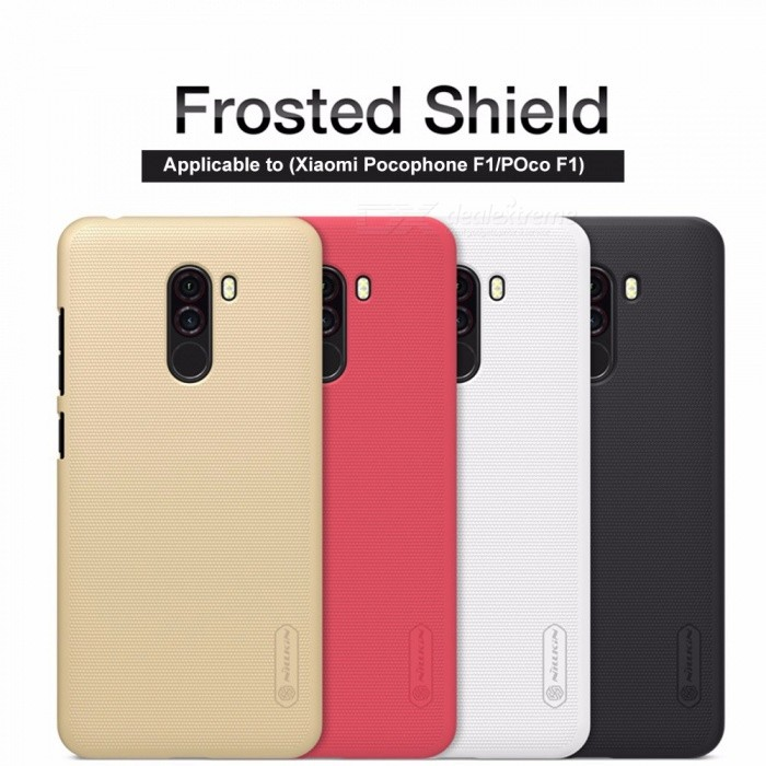 sports shoes d9729 1e636 Nillkin Ultra Thin Frosted PC Case, Protective Phone Back Cover Shell For  Xiaomi Pocophone F1 / Poco F1 Red/PC