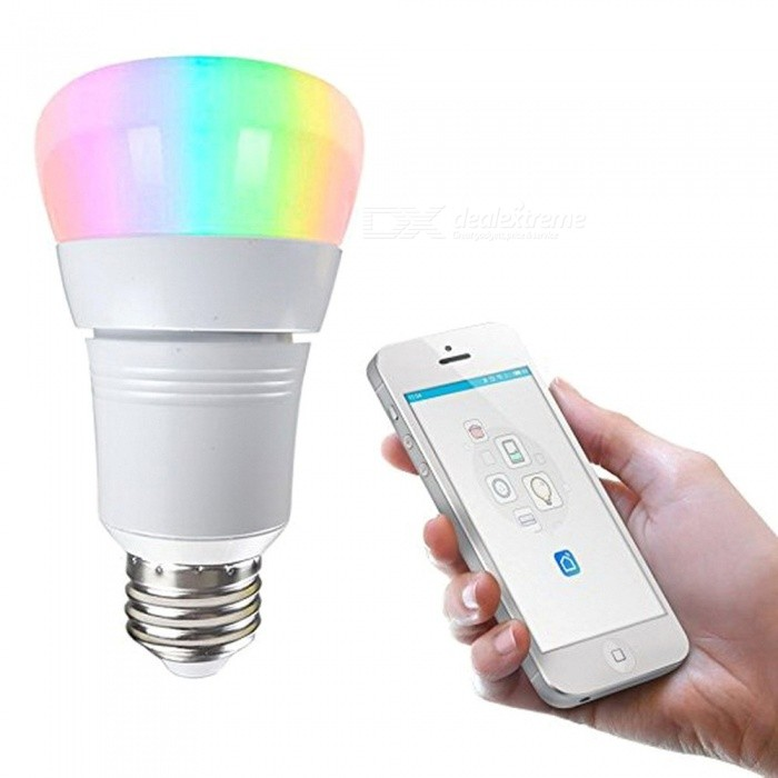 Smart Wireless Color-Changing Wi-Fi LED Bulb, Works With Google Home / Amazon Alexa / Nest Voice Control 7w/Yes/White
