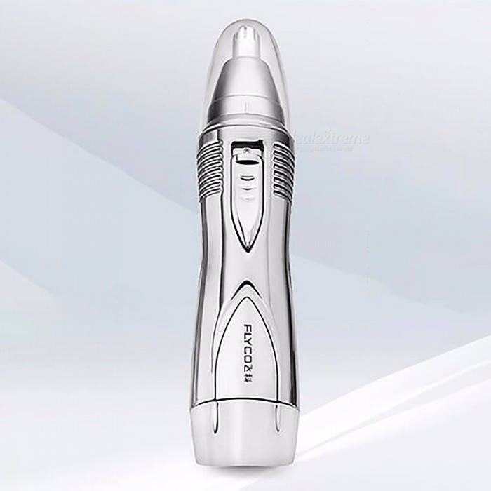 Flyco-FS7806-Quick-Nose-Hair-Trimmer-Metal-Nasal-Nose-Hair-Cutter-Shaver-Clipper-For-Men-Silver