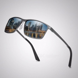 10c9883d94945 High Quality Men s Aluminum-magnesium Polarized Sunglasses Sports Coated  Driving Traveling Sun Glasses Black