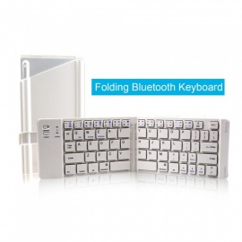 ZHAOYAO Multifunction Portable Bluetooth Foldable Two-fold Wireless Keyboard