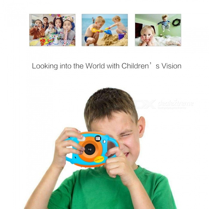 5MP HD Mini Kids Camera, Portable Cute Kid Neck Children Photography Camera, Support Video Recording