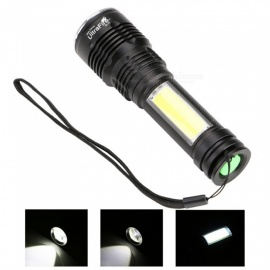 SX-01 XM-LT6 + COB 4-Mode USB Charging Magnetic Focusing Flashlight