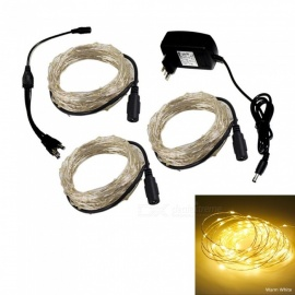 XSUNI DC 12V 10 100-LED Set Of Copper Wire Light String (EU)