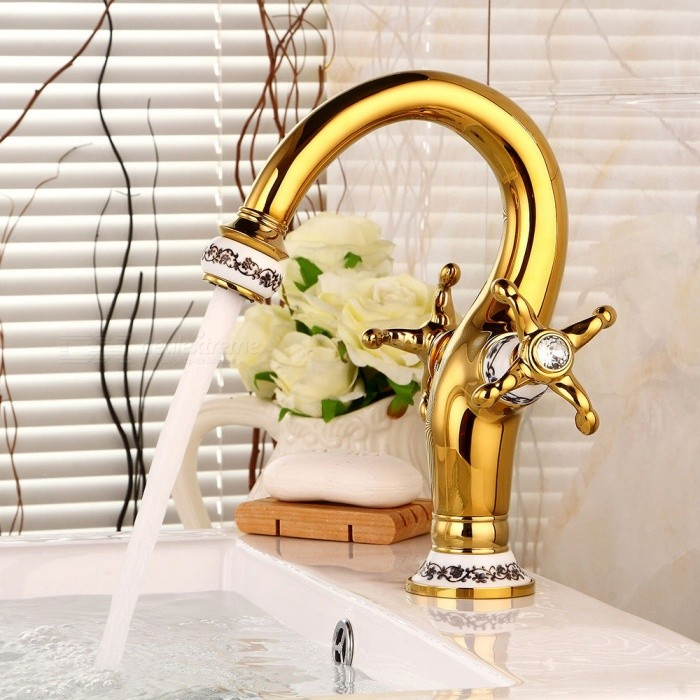 Brass-Ti-PVD-One-Hole-Bathroom-Sink-Faucet-with-Ceramic-Valve-Single-Handle