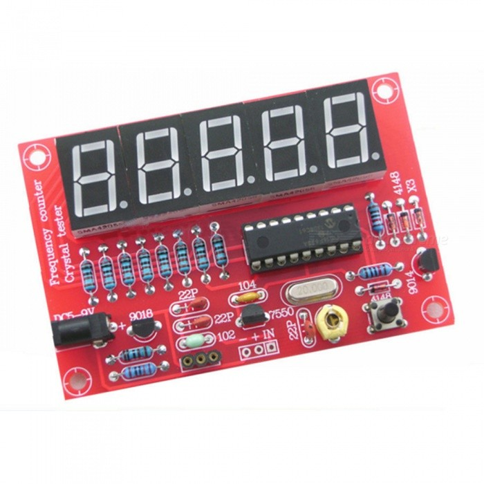 Купить со скидкой ZHAOYAO 1Hz-50MHz PCB Frequency Counter Tester Crystal Oscillator Frequency Measurement Five Digital