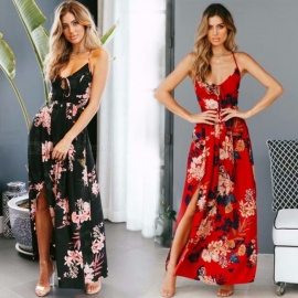 Sexy-Deep-V-neck-Backless-Forking-Maxi-Dress-Fashion-Floral-Print-Spaghetti-Strap-Back-Crisscross-Dresses-For-Women-BlackS