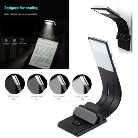 Rechargeable Reading Lamp Compact Book Light Flexible LED Light Clip-on LED Lamp for Kindle and Book 4 Modes