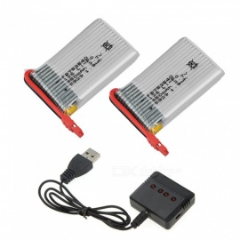3.7V 850mAh Battery with X4 Charger for Syma X54HC X54HW X56W TK110HW RC Quadcopter Spare Parts Accessories