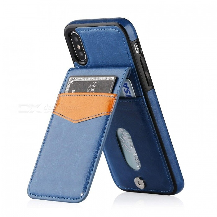Measy Premium PU Leather kickstand  Wallet Case with Card Holder for IPHONE X