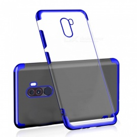 Transparent Slim Electroplate Plating TPU Back Case for Xiaomi Pocophone F1