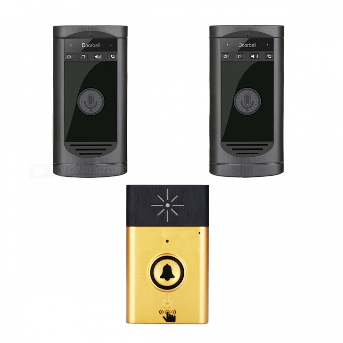 Napok Portable Smart Wireless Smart Talk Back Doorbell, Voice Intercom Doorbell for Home Security Security Control