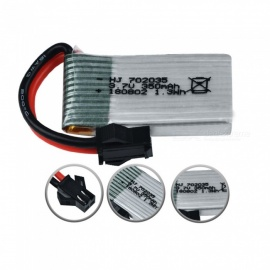 2Pcs 3.7V 350mAh Lipo Batteries for RC Car