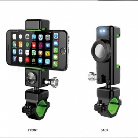 Bicycle Phone Holder with LED Light and Compass Function