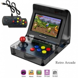 Retro Mini Arcade Retort Arcade Handheld Game Console 16GB Rocker Double Handle Built-in 3000 Games