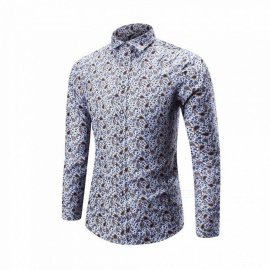 Autumn-Winter-Unique-Printing-Shirt-Thin-Mens-Casual-Slim-Long-sleeved-Shirts-Tops-GrayM