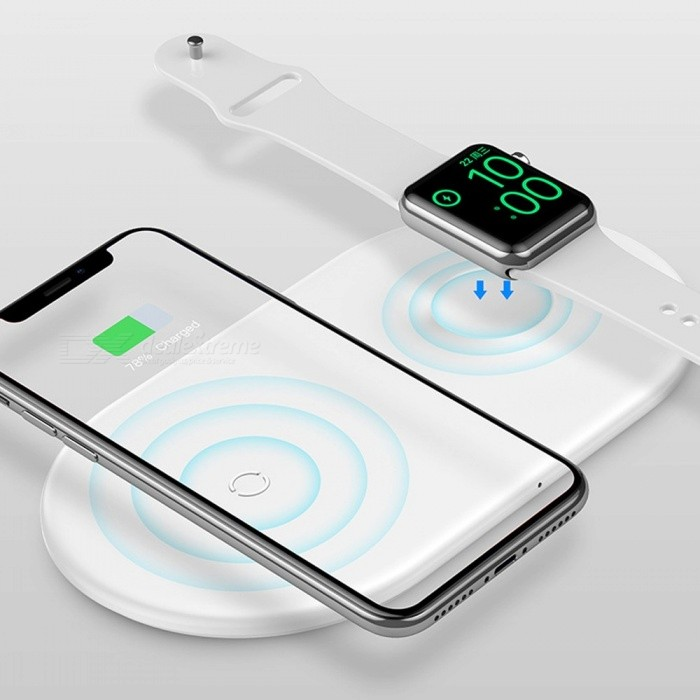 BASEUS Universal 2-in-1 7.5W Wireless Charger For IPHONE And Apple Watch / IWATCH White