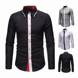 Fashion-Contrast-Color-Long-Sleeve-Mens-Shirt-Casual-Turn-Down-Collar-Slim-Fit-Shirt-For-Men-BlackM