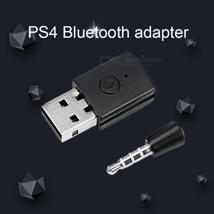 5V USB 2.0 2.4Ghz Bluetooth V4.0 Adapter With LED Indicator For PS4, Game Accessories Black