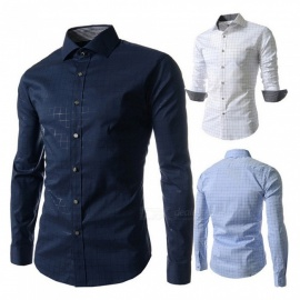 Fashion-Check-Pattern-Long-Sleeve-Mens-Shirt-Casual-Turn-Down-Collar-Slim-Fit-Shirt-For-Men-Sky-BlueM