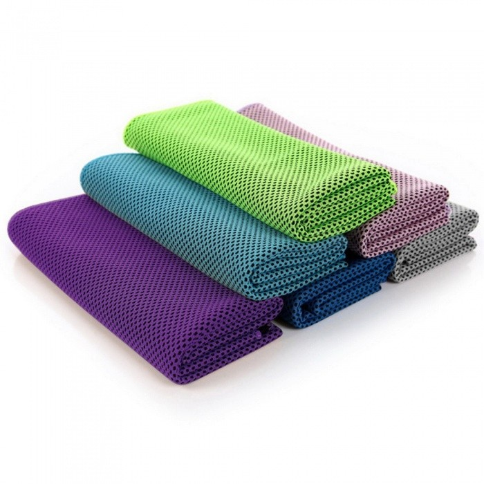 Two-tone Ice Microfiber Sports Travel Camping Cold Towels With Cooling Effect Fitness Yoga Golf Outdoor Sports Towel Green