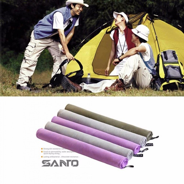 SANTO Portable Microfiber Fabric Quick-Drying Towels Outdoor Swimming Absorption Travel Towel Blue