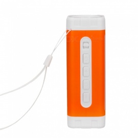 ZHISHUNJIA WY8158 Built in Battery Flashlight Camping Lamp Audio USB Charging Lamp  Orange