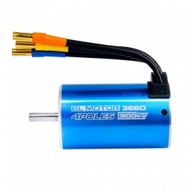 3660 3100KV Sensorless Brushless Motor with 80A ESC for 1/10 RC Rally Car