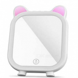 Portable Cute Cosmetic Mirror with Bluetooth Speaker, Colorful Fill Light Function