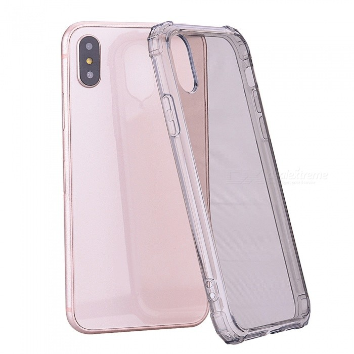 Mini Smile Anti-Falling Shockproof Clear Soft Flexible TPU Back Cover Case for IPHONE XS