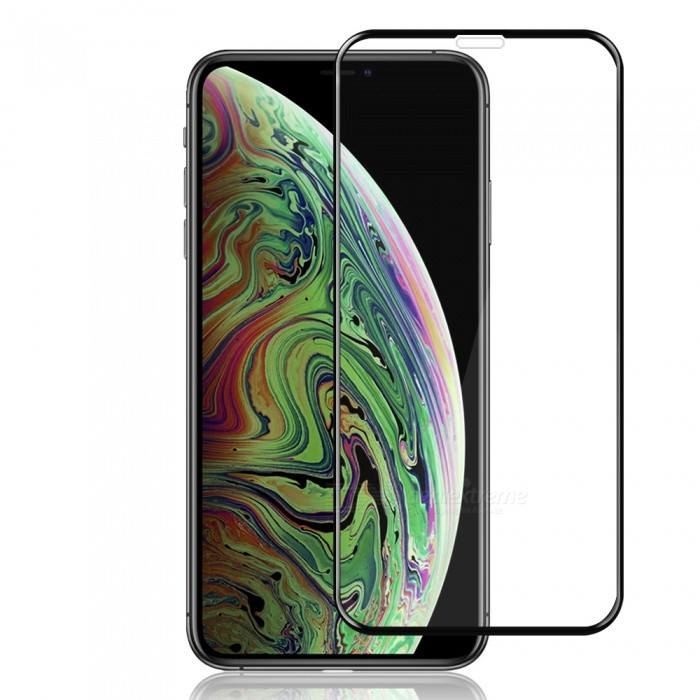3D Full Screen Tempered Glass Protector Film for iPhone XS black