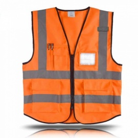 ESAMAC High Visibility Reflective Vest Working Clothes, Motorcycle Cycling Sports Outdoor Safety Clothing