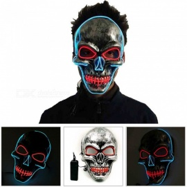 Dance Party Performing Halloween Horror Mask Sewed Mouth Gimmick Mask (2*AA)