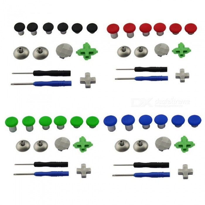 XBOX-ONE-Elite-Handle-Parts-Accessories-Set-With-Rocker-Button-Key-Screwdriver-Etc-Red