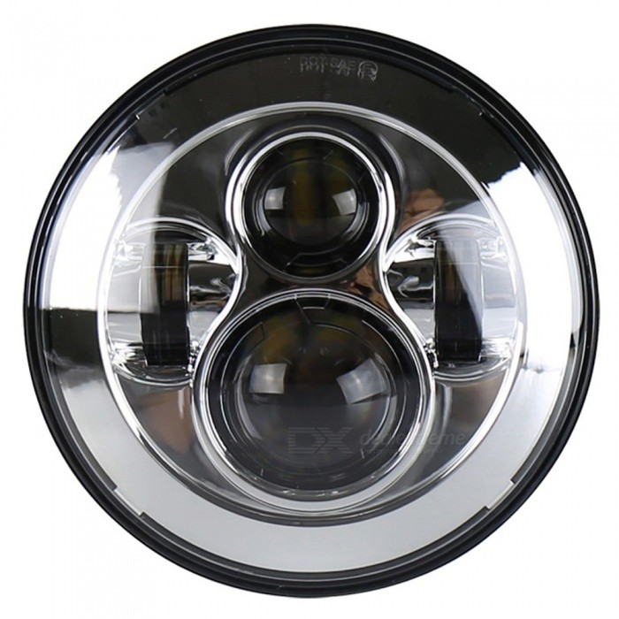 Universal-40W-7-Inches-Car-Motorcycle-Modified-LED-Round-Headlight-Headlamp-For-Jeep-Wrangler-Hummer-Silver