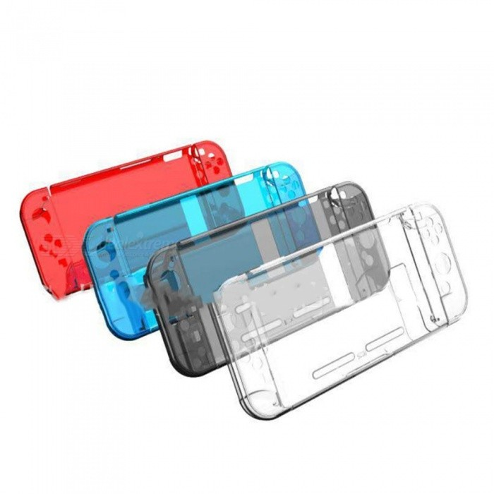 Nintendo Switch Games NS Console Protection Split Crystal Transparent Clear Case Shell - Thin Can Storage TV Pedestal